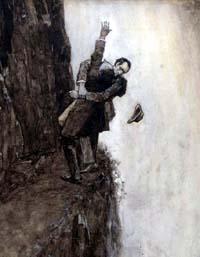 [Struggle at Reichenbach Falls]